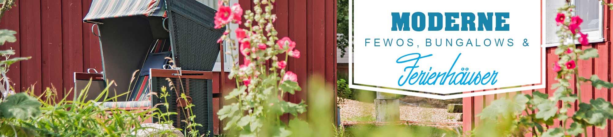 Moderne FeWo's, Ferienhäuser und Bungalows Hinter der Düne Ückeritz Usedom