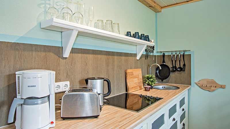 Ferienwohnung Achterwasser Küche Hinter der Düne Ückeritz Usedom