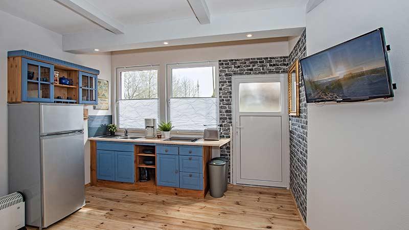 Ferienhaus Albatros Küchenzeile und Flur Hinter der Düne Ückeritz Usedom