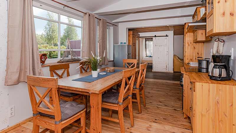 Ferienhaus Dünenblick 3 Küchen und Essbereich Hinter der Düne Ückeritz Usedom