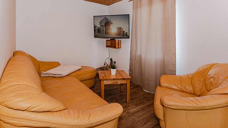 Ferienhaus Dünenblick 3 Wohnzimmer Hinter der Düne Ückeritz Usedom Sofa