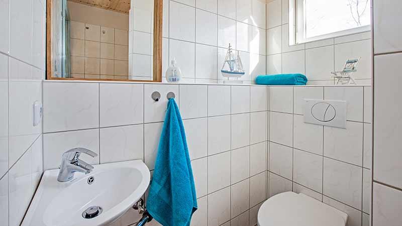 Ferienwohnung Krebssee Badezimmer Hinter der Düne Ückeritz Usedom Dusche