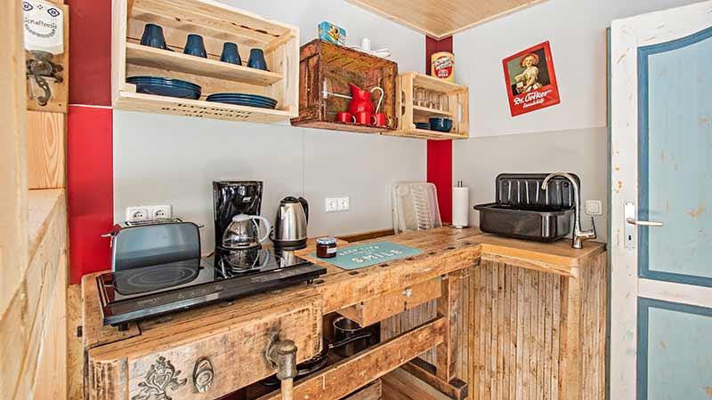 Ferienwohnung Krebssee Küche Hinter der Düne Ückeritz Usedom