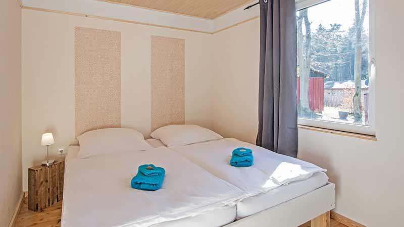 Ferienwohnung Krebssee Schlafbereich Hinter der Düne Ückeritz Usedom Doppelbett