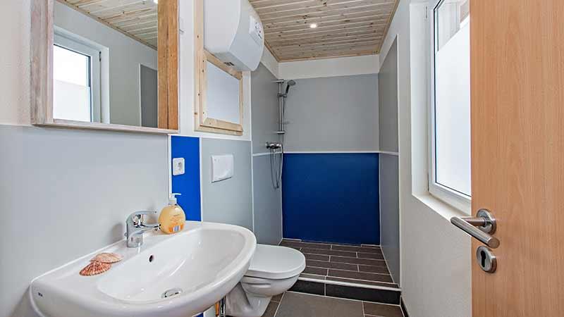 Ferienwohnung Schloonsee Badezimmer Hinter der Düne Ückeritz Usedom Dusche