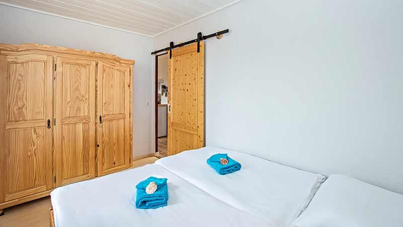 Ferienwohnung Schloonsee Schlafzimmer Hinter der Düne Ückeritz Usedom Doppelbett