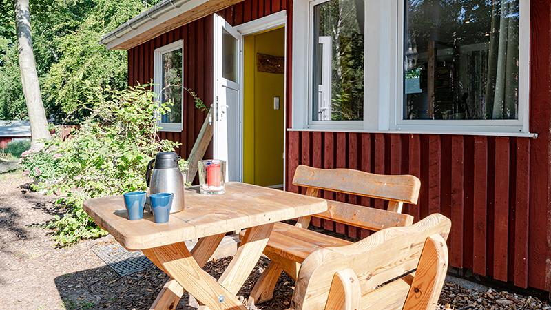 Ferienwohnung Wockninsee Außenbereich Hinter der Düne Ückeritz Usedom Terrasse
