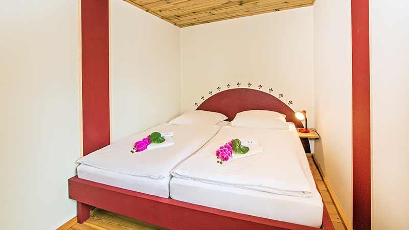 Ferienhaus Dünenblick 1 zweites Schlafzimmer Hinter der Düne Ückeritz Usedom Doppelbett