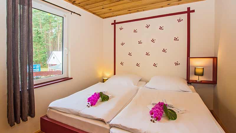 Ferienhaus Dünenblick 1 Schlafzimmer Hinter der Düne Ückeritz Usedom Doppelbett
