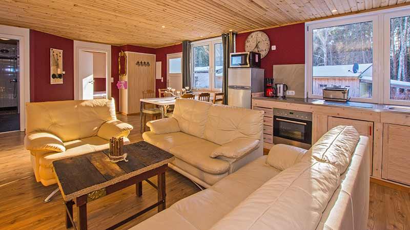 Ferienhaus Dünenblick 2 Wohnzimmer Hinter der Düne Ückeritz Usedom