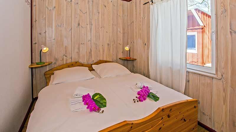 Ferienhaus Herzmuschel Schlafbereich Hinter der Düne Ückeritz Usedom Doppelbett