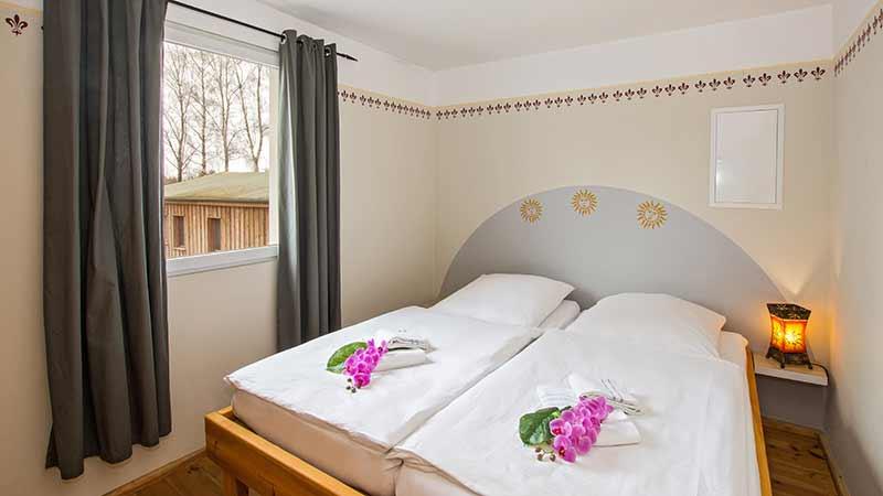 Ferienwohnung Ostseeperle Schlafzimmer Hinter der Düne Ückeritz Usedom Doppelbett