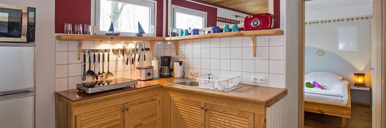 Ferienwohnung Ostseeperle Küchenzeile Hinter der Düne Ückeritz Usedom