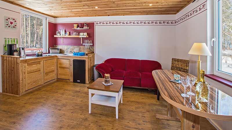 Ferienwohnung Seestern Wohnbereich Hinter der Düne Ückeritz Usedom