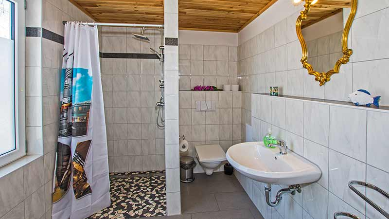 Ferienwohnung Seestern Badezimmer Hinter der Düne Ückeritz Usedom